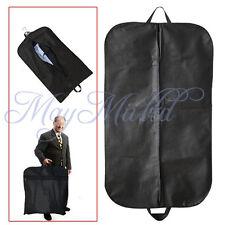 Coat Clothes Garment Suit Cover Zipper Bags Dustproof Hanger Storage  Black  G