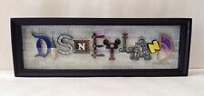 Disney Parks Disneyland Icon Letters Wall Art Shadow Box by Dave Avanzino New!
