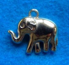 Silver Tone Elephant Charm Animal Charm Double Sided Charm Jewelry Finding