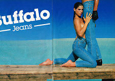 PUBLICITE ADVERTISING 054  1986  BUFFALO  JEANS  ( 2 pages) pret à porter