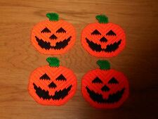 PUMPKIN COASTERS WITH FELT BACKING (NEW)