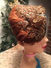 Vintage Womens Hat Feathered Half Skull Cap  Steam Punk Hat Costume Theater Hat