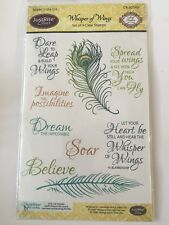 Just Rite Clear Stamps Whisper Of Wings Set Of 9 Clear Stamps New/Sealed