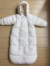 H&M Girls Boys Infant 2-6 Months One Piece Snow Suit Pram Footed Zipper Snowsuit