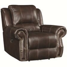 Coaster 650163 Home Furnishings Rocker Recliner with Swivel, Burgundy Brown NEW