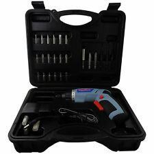 3.6v Cordless Screwdriver & 40 Piece Accessory Kit - Adjustable angle