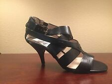 New With Box Michael Kors Black Zoe Open Toe 8.5 Sandals Buckle and Zipper