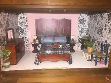 1/6 Scale Custom Made Bed and Mirrored Dresser 4 Integrity & Barbie Sized Dolls
