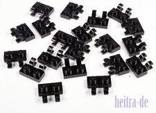 LEGO - 20 x Platte 1x2 mit 2 x O - Clip senkrecht schwarz / 60470b NEUWARE