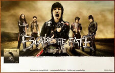 Escape The Fate Ungrateful Ltd Ed Rare Discontinued Poster +Free Metal Poster!
