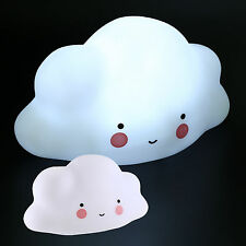 White Smily Cloud Kids Baby Night Lights Portable LED Lamp Bedroom Home Decor