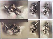 Carta decoupage classico a/4 foglio di ALBUM VINTAGE Angels