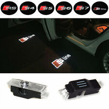 2x AUDI SLine Laser LED Door Puddle Courtesy Projector Light.  Lamp Logo
