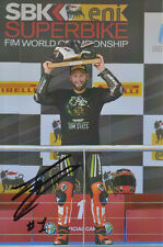 TOM Sykes mano firmato KAWASAKI WSBK 6x4 PHOTO 6.