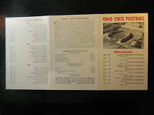1964 Ohio State University OSU Football Preview Schedule & Ticket Information