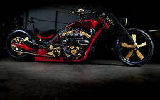 "24"" x 16"" Poster Chopper Hot Rod Super Bike Custom Motorcycle"