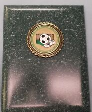 SOCCER plaque green 6 x 8  award trophy green and gold insert