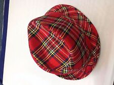 Adult Scottish Tartan Trilby Hat Great for Bay City Rollers Or Hogmanay