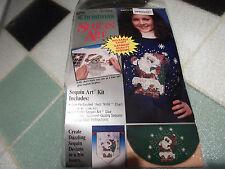 Santa in Chimney Sequin Art Packet~New