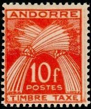 "ANDORRE FRANCAIS STAMP TIMBRE TAXE N°38 "" GERBES 10F "" NEUF x TB"