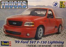 REVELL 1:25 SCALE 1999 FORD SVT F-150 LIGHTNING TRUCK PLASTIC MODEL KIT
