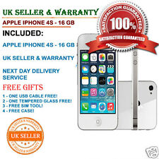 Apple iPhone 4s 16GB white Unlocked Smartphone B Grade GOOD Condition FREE GIFTS