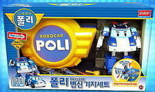 Robocar Poli Deluxe transforming Robot + Base camp play set / Figure/Diecast/Toy