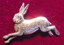 Pewter Hare Coursing Shooting Brooch Pin  Quality