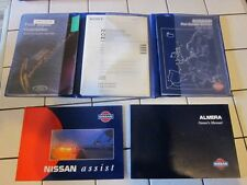 Nissan Almera N15 1995-2000 Owners Manual, Handbook & Bookpack inc Wallet.