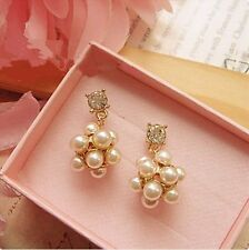 Glitz Romantic Fashion Faux Pearl Alloy Stud Earrings for Women