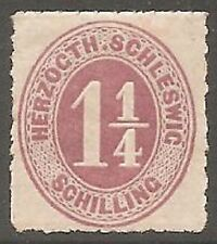 1867 Schleswig-Holstein 1¼s Dull Mauve SG 30 MH/* (Cat £250)
