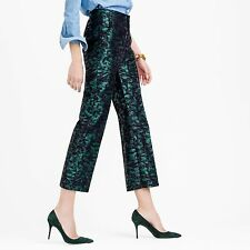 NWT J.CREW Patio Crop Pant In Evergreen Size 2