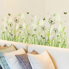 Fashion Wall stickers For Living Room Bedroom And Kids Room Green Plant Stick...