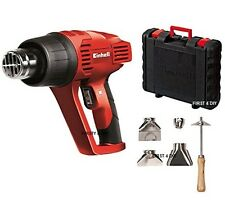 PRO EINHELL 2000W PREMIUM HOT AIR HEAT GUN WALLPAPER STRIPPER & NOZZLES IN CASE