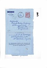 "Am9 1959 Ceylon Mount Lavinia per GB Brighton. Air lettera. ""paga"""