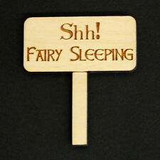 "Fairy Door Accessory ""Shh Fairy Sleeping"" sign  for Fairy Door ~ 10 Pack"