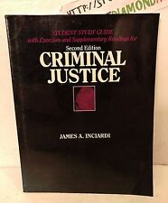 SECOND EDITION. CRIMINAL JUSTICE. STUDY GUIDE. PAPERBACK BOOK USED RARE