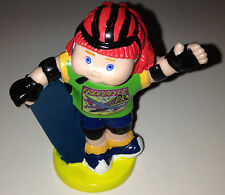 CABBAGE PATCH KIDS CPK FREESTYLE SKATEBOARD 1997 DORDA PLASTIC TOY FIGURE USA