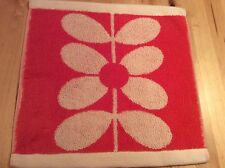 BNWOT New Orla Kiely Large Sixties Stem Red 100% Cotton Facecloth Flannel 580GSM