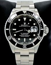 ROLEX SUBMARINER SS BLACK DIAL MEN'S WATCH *MINT CONDITION* FULLY SERVICED 16610