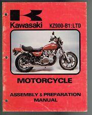 KAWASAKI KZ 900-B1:LTD  ASSEMBLY AND PREPARATION MANUAL PRINTED IN USA 1976