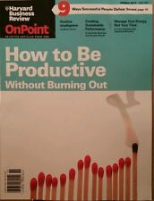 Harvard Business Review How to Be Productive Positive  Spring 2015 FREE SHIPPING