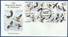 PAKISTAN 2012 MNH FDC MIGRATORY BIRDS WILD LIFE SERIES WILDLIFE ANIMALS WHITE