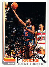 Trent Tucker New York Knicks Topps SIGNED CARD AUTOGRAPHED