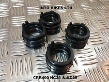 BRAND NEW FOR HONDA CBR400 NC29 CARB INTAKE INLET RUBBERS TO CYLINDER HEAD SET