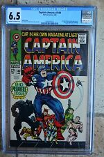 Captain America #100, CGC, 6.5, 1st issue, app: Black Panther, Jack Kirby art