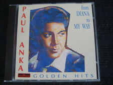 CD PAUL ANKA Golden Hits from Diana to May Way staccato