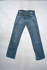 "LEVIS 557 ""Eve"" LADIES STRAIGHT FIT ULTRA LOW RISE DENIM JEANS FADED W26 L34 UK8"