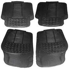 4 Piece Super Heavy Duty Front Rear Waterproof Black Rubber Mazda Car Floor Mats