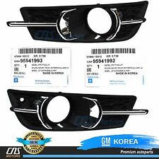 GENUINE Fog Light Cover Set Bezel 11-14 GM Chevrolet Cruze OEM 95980706 95980707